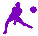 Volleyball Player Silhouette v13 Decal Sticker
