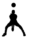 Volleyball Player Silhouette v6 Decal Sticker