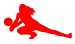 Volleyball Player Silhouette v7 Decal Sticker