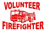 Volunteer Firefighter with Truck Decal Sticker