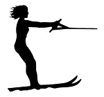 Water skiing v3 Decal Sticker