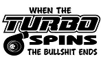 When The Turbo Spins Decal Sticker