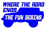 Where The Road Ends The Fun Begins v2 Decal Sticker