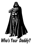 Who's Your Daddy Darth Vader Decal Sticker