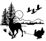 Wildlife Scene Decal Sticker