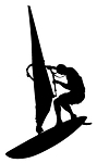 Windsurfer Silhouette v2 Decal Sticker