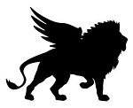 Winged Lion Silhouette Decal Sticker