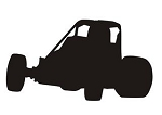 Wingless Sprint Car Silhouette v2 Decal Sticker