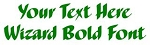 Wizard Bold Font Decal Sticker