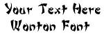 Wonton Font Decal Sticker
