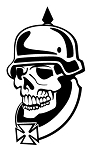 World War II Soldier Skull Decal Sticker
