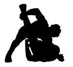 Wrestling Silhouette v2 Decal Sticker