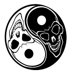 Ying Yang Skulls v2 Decal Sticker