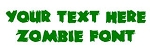 Zombie Font Decal Sticker