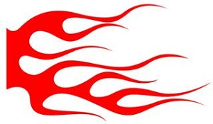 Flame Pattern v22 Decal Sticker