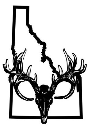Idaho Deer Skull Decal Sticker
