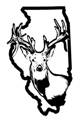 Illinois Deer Hunting v2 Decal Sticker