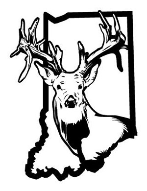 Indiana Deer Hunting v2 Decal Sticker