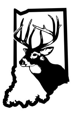 Indiana Deer Hunting Decal Sticker