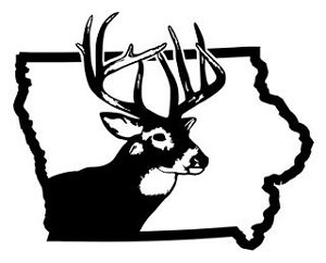 Iowa Deer Hunting Decal Sticker