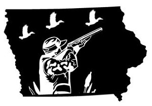 Iowa Duck Hunting Decal Sticker
