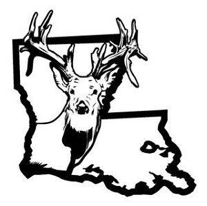 Louisiana Deer Hunting v2 Decal Sticker