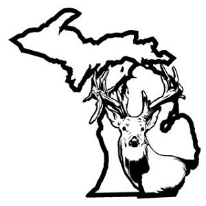Michigan Deer Hunting v2 Decal Sticker
