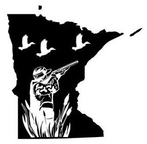Minnesota Duck Hunting Decal Sticker