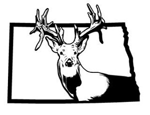North Dakota Deer Hunting v2 Decal Sticker