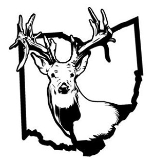 Ohio Deer Hunting v2 Decal Sticker