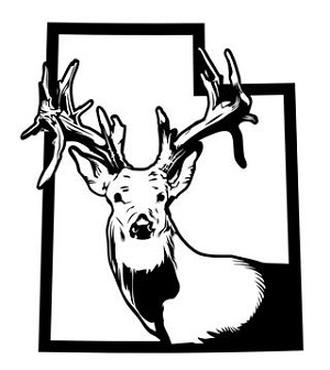 Utah Deer Hunting v2 Decal Sticker